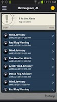 Screenshot of WRAL Weather Alert