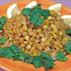 Lemony Yellow Lentils