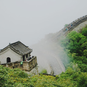 smoke in great wall by Iman S - Buildings & Architecture Public & Historical