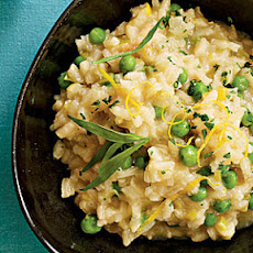 Lemon Risotto with Peas, Tarragon, and Leeks