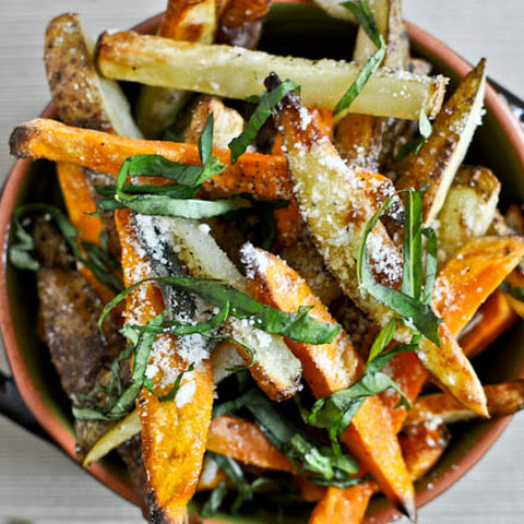 Oven-Crisped Parmesan and Sage Truffle Fries