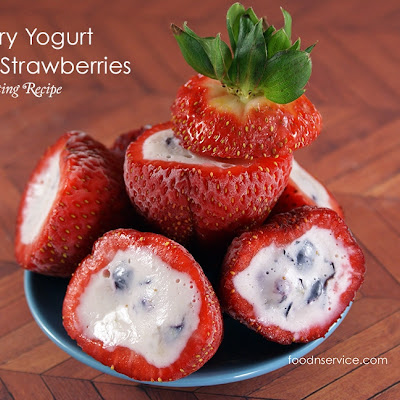 Blueberry Yogurt Stuff Strawberries