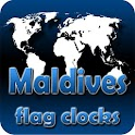 Maldives flag clocks