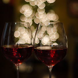 Bubbly by Beth Thomander - Food & Drink Alcohol & Drinks ( lights, wine, food, bokeh, drinks,  )