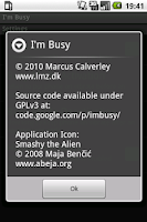 Screenshot of I'm Busy
