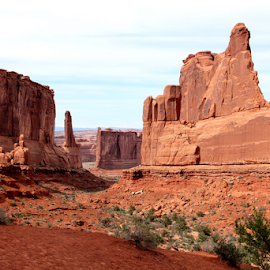 The Avenue by Dennis Robertson - Landscapes Deserts ( red rock, sand stone )