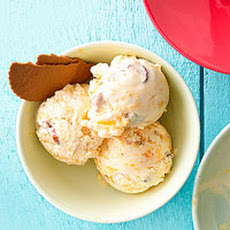 Peach and Toasted Almond Ice Cream