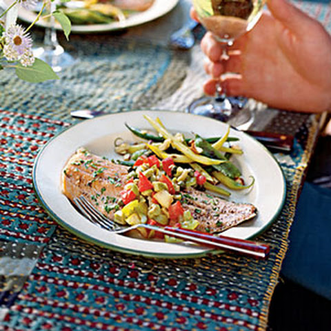 Baked Trout with Olive-Tomato Relish