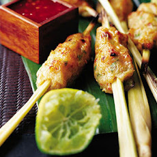 Thai Fish Cakes On Lemongrass Sticks