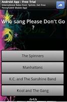 Screenshot of 80s Pop quiz