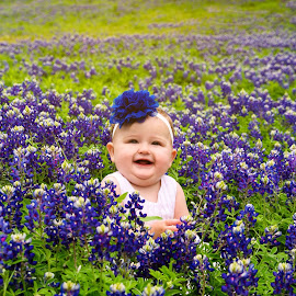 In Bluebonnets by Vladimir  Stevanovic  - Babies & Children Child Portraits ( blue, texas, frisco, baby, flowers, bluebonnets )