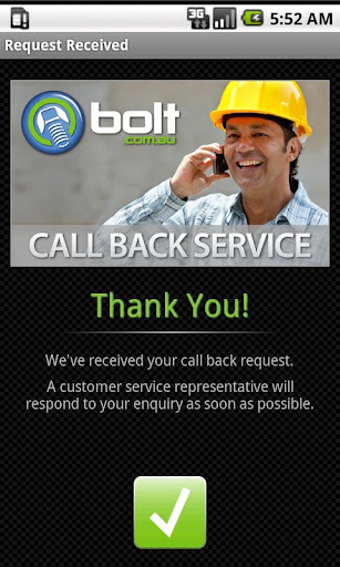 Bolts Call Back Service