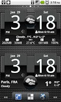 Screenshot of FlipClock ADW1 White 4x2