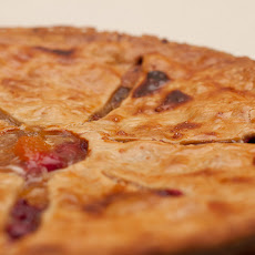 Sweet & Tart Peach Cranberry Pie