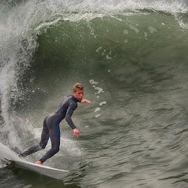 HB Surfer by Jose Matutina - Sports & Fitness Surfing ( surfer, california, sport, huntington beach )