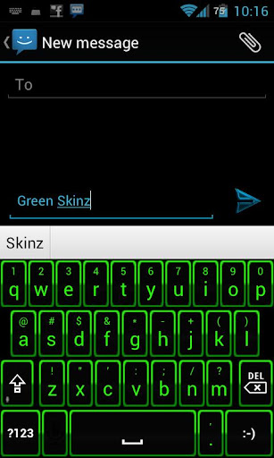 Green Glow Keyboard Skinz