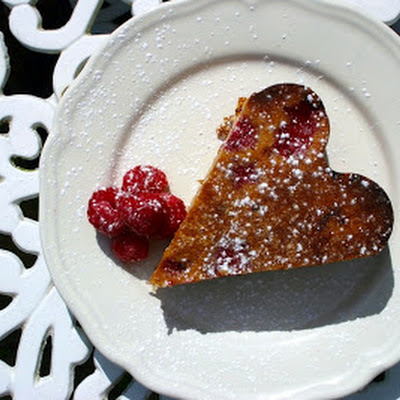Raspberry, Rose And Almond Cake