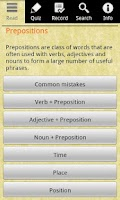 Screenshot of English Grammar -Preposition