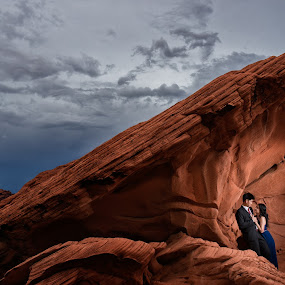 When The World Is Just For Us by Yansen Setiawan - Wedding Other ( creative, art, losangeles, illusion, landscape, love, fineart, yansensetiawanphotography, prewedding, d800, wedding, lifestyle, photographer, red rock, la, yansensetiawan, nikon, yansen, engagement )