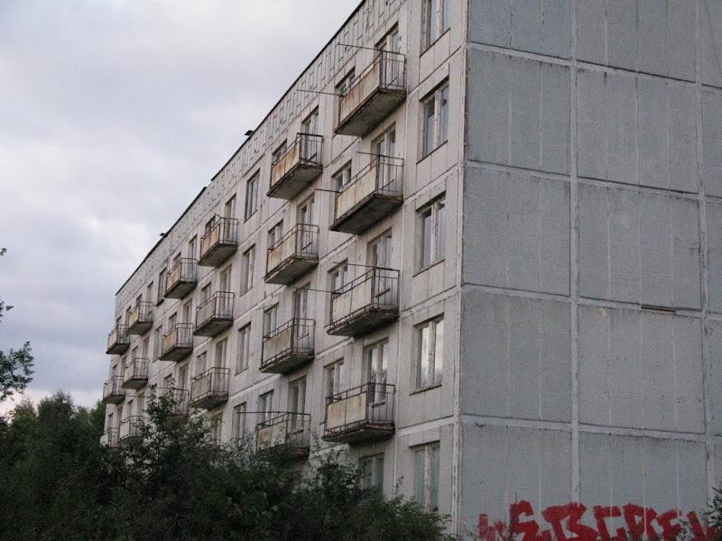 Mroczne miejsca opuszczony blok