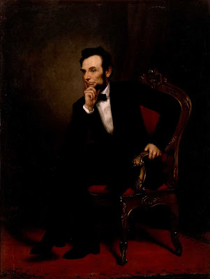 Abe didn't chose this portrait: to me, the artist showcases thinking....no, listening skills and determination.