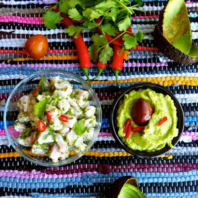 Green Ceviche with Guacamole