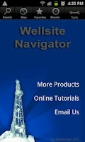 Screenshot of Wellsite Navigator USA