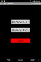 Screenshot of EV3-NXT Gateway