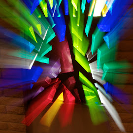 Let There Be Colorful Light by Rhonda Mellett - Abstract Light Painting (  )