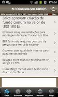 Screenshot of Economia e Negócios