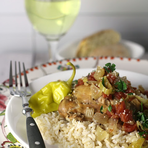 Slow Cooker Italian Pepperoncini Chicken