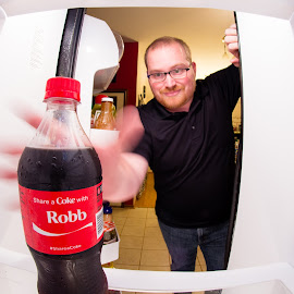 by Robb Harper - Food & Drink Alcohol & Drinks ( selfie, share a coke, self shot, coke, beverage, share-a-coke, #selfie, photos by robb harper, self portrait )