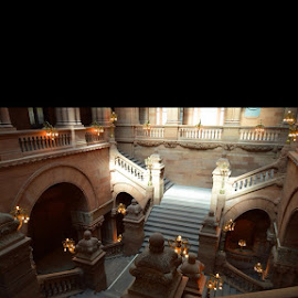Million Dollar Staircase by Kelly Hogan - Buildings & Architecture Architectural Detail ( albany new york )
