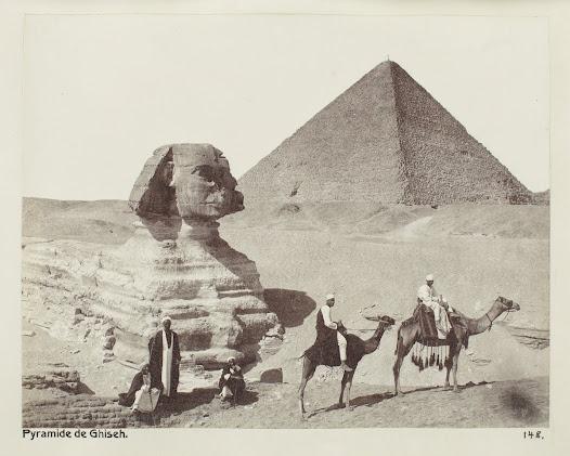 Enligt resedagboken var sfinxen mycket insandad vintern 1900-1901 och bara en liten del stack fram.