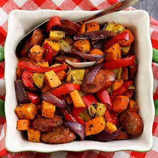 Paleo Chop & Drop Roasted Veggies & Sausage