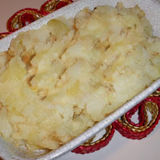 Celeriac, Potato and Roasted Garlic Mash