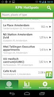 Screenshot of KPN HotSpots