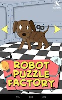 Screenshot of Kids Robot Puzzle Factory Lite
