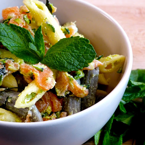 Salmon Courgettes Pasta Salad