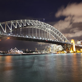harbour bridge by Elbert Limanto - City,  Street & Park  Night ( harbour bridge, night, sydney )