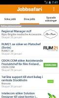 Screenshot of Jobbsafari Jobb App