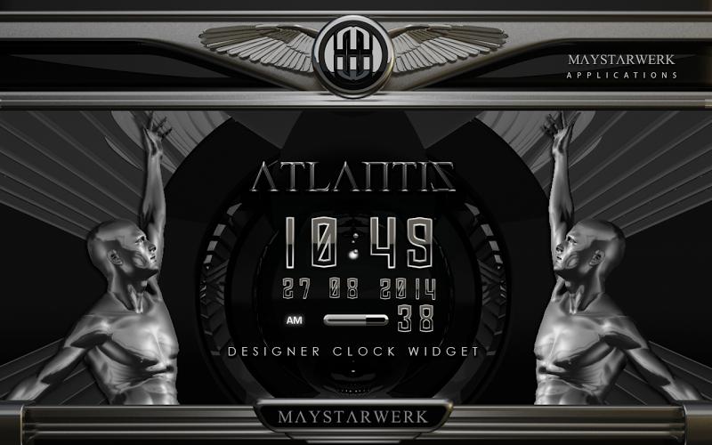 Digi Clock Widget Atlantis Screenshot 2
