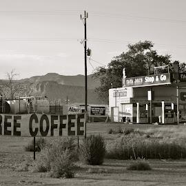 Roadside General Store by Kathleen Koehlmoos - City,  Street & Park  Markets & Shops ( moab utah, roadside store, utah, roadside general store, general store, free coffee )