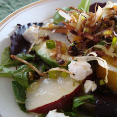 Bright Winter Salad with Crispy Leeks