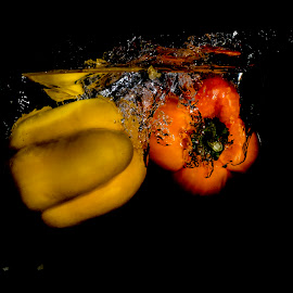 Peppers by John Myrianthousis - Abstract Water Drops & Splashes