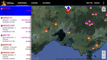 Screenshot of VICFires