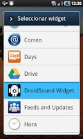 Screenshot of DroidSound Widget
