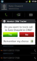 Screenshot of Akvelon CRM Call Tracker