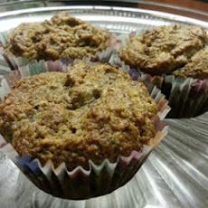 Low-Cal, Low-Carb, All-Natural Flax Seed & Almond Flour Banana Muffins