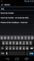 Screenshot of AndMote XBMC
